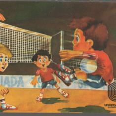 CPI B12847 CARTE POSTALA - UNIVERSIADA 1981, BUCURESTI, ROMANIA, VOLEI