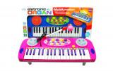Orga electronica de jucarie / Orga pentru fetite cu microfon si lumini