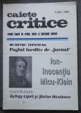 Caiete critice nr. 4/ 65/ 1993 (dosar Ion-Inocențiu Micu-Klein ș.a.)