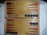 CUTIE TABLE si SAH,din LEMN SCULPTATA,plururi joc table si zaruri vech,T.GRATUIT