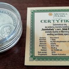 NIUE - 1 Dolar 2010 - Szombathely - Argint + Chihlimbar - in capsula +certificat