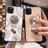 Husa pietricele + inel rotativ ' Clock '  Iphone 11 ; 11 Pro ; 11 Pro Max