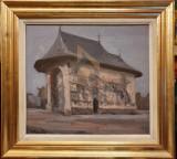 TABLOU, EUGEN RAPORTORU, MANASTIREA ARBORE, U/C , 2001