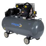 Compresor aer Stager, 4100 W, 8 bar, 370 l, 600 l/min, 950 rpm, trifazat, angrenare curea
