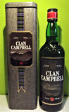 RARE CLAN CAMMPBELL THE NOBLE SCOTCH WHISKY, cl 75 gr 40 ANII 90