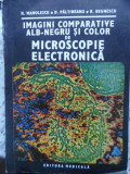 IMAGINI COMPARATIVE ALB-NEGRU SI COLOR DE MICROSCOPIE ELECTRONICA-N. MANOLESCU, D. PALTINEANU, R. BEGNESCU