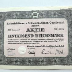 Titlu De Stat Obligatiune Germania 1938- 1000-Reichsmark