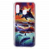 Cumpara ieftin Carcasa Husa Samsung Galaxy A20e model Dolphin, Antisoc + Folie sticla securizata Samsung Galaxy A20e Full Tempered Glass Viceversa