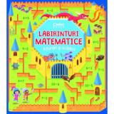Carte educativa Labirinturi matematice Adunari si scaderi, 5 ani+