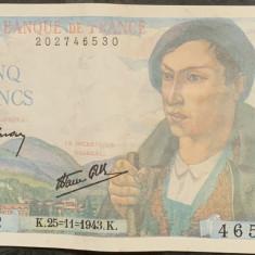 FRANTA 25 FRANCS/FRANCI 1943