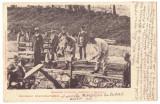 4827 - MARAMURES, Workers at the Railway, Litho - old postcard - used - 1901, Circulata, Printata