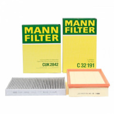 Pachet Revizie Filtre Aer + Polen Mann Filter Volkswagen T5 2003-2015