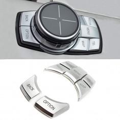 Set Capace Butoane Joystick Silver Compatibil Bmw Seria 6 F06 2011→ 8017