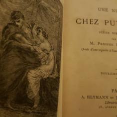 Carte rara - Bibliofilie - Une Nuit Chez Putiphar (1878) cu dedicatia autorului