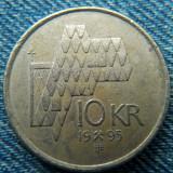 2q - 10 Kroner 1995 Norvegia / primul an de batere, Europa