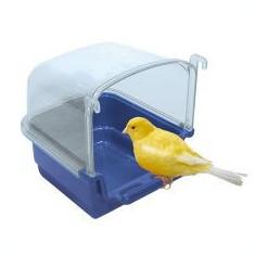 Cădiță pentru păsări RIO 1 -albastră, 12 x 14 x 13 cm