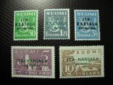 FINLANDA 1941 KARELIA DE EST 5V MH++