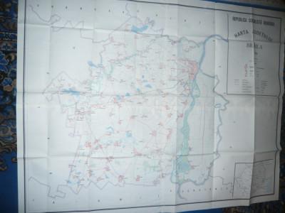 Harta mare a Judetului Braila 1986 ,dim.=134x106cm  RSR Inst. Geodezie si Org foto
