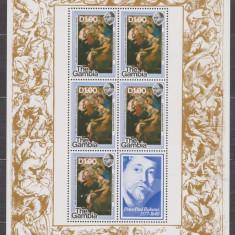 DB Arta Picturi Rubens 400 Ani GAMBIA 1977 4 MS MNH 4 poze