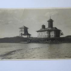 Cumpara ieftin Rară! Carte poștală foto A.Ebner manastirea Snagov,stampila Parcul Snagov 1931