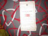 Buletin de nastere an 1919 comuna t severin pentru ceremonie religioasa x14