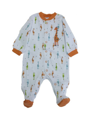 Salopeta / Pijama bebe cu girafe Z53 foto