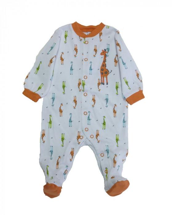 Salopeta / Pijama bebe cu girafe Z53