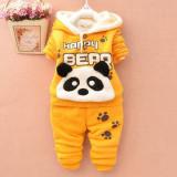 Costum galben - Happy Panda Bear (Marime Disponibila: 9-12 luni (Marimea 20...