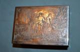 CUTIE BIJUTERII - METAL ARGINTAT - Franta 1890 - Gravata manual D'apres Lancret!, Cutii