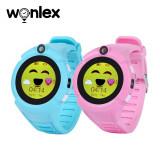 Pachet Promotional 2 Smartwatch-uri Pentru Copii Wonlex GW600-Q360 cu Functie Telefon, Localizare GPS, Camera, Lanterna, Pedometru, SOS - Roz + Bleu