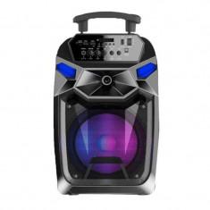 Boxa portabila karaoke S12 JRH, microSD card, USB, AUX in, bluetooth, display digital