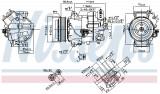 Compresor AC clima OPEL ASTRA J, ASTRA J GTC, MERIVA B, ZAFIRA ZAFIRA FAMILY B, ZAFIRA C 1.6-2.0 dupa 2009