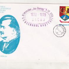 Bnk fil Plic ocazional centenar Ion Borcea Bacau 1979, Romania de la 1950