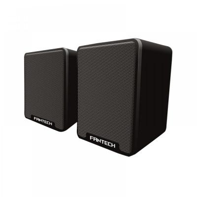 Boxe 2.0 Fantech GS733, 6W, stereo, membrana cauciuc cu difuzor 45mm, alimentare usb, 1 x jack 3.5mm, negru foto