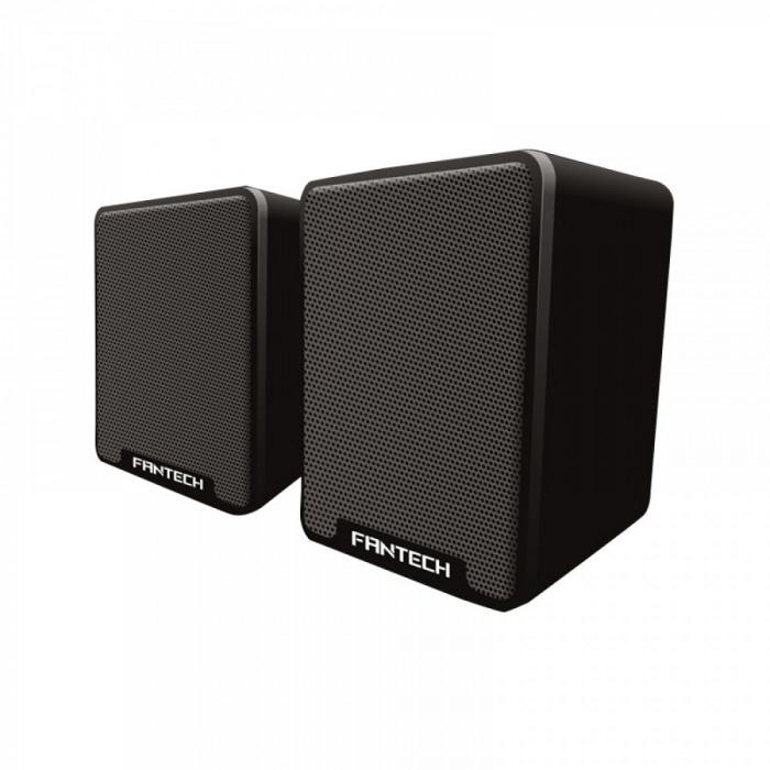 Boxe 2.0 Fantech GS733, 6W, stereo, membrana cauciuc cu difuzor 45mm, alimentare usb, 1 x jack 3.5mm, negru