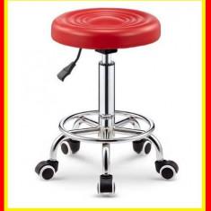 Scaun cosmetica coafor frizerie taburet mobilier dotari saloane manichiura Rosu