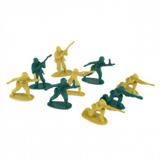 Set 90 soldati de plastic, 4 cm, verde/galben