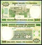 = RWANDA - 500 FRANCS - 2008 -  UNC =