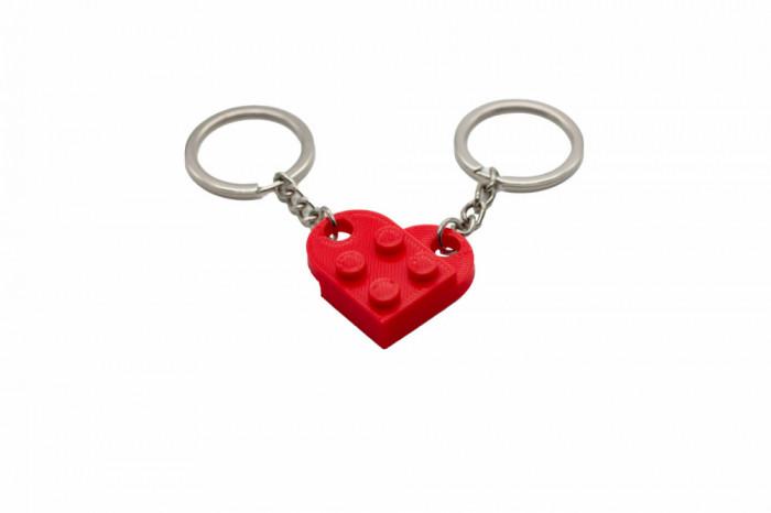 Lego couple keychain - rosu