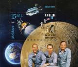 MOLDOVA 2019, Aniversari - 50 de ani Apollo 11, serie neuzata, MNH
