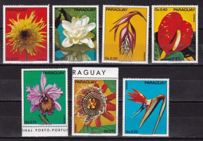 Paraguay 1973 flori MI 2525-2531 MNH w55 foto