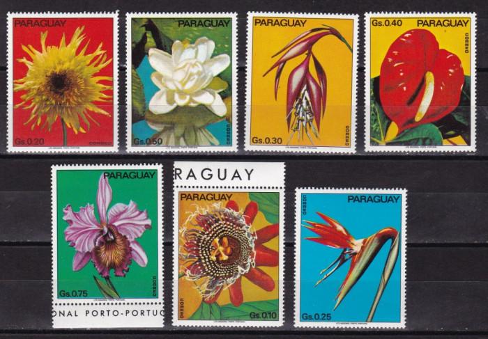 Paraguay 1973 flori MI 2525-2531 MNH w55