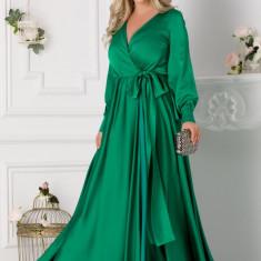 Rochie LaDonna verde lunga petrecuta, M