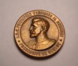 Medalie Principele Ferdinand Societatea Functionarilor Publici 1907 de Colectie