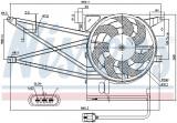 Ventilator radiator (cu carcasa) OPEL VECTRA B 1.6-2.5 intre 1995-2003
