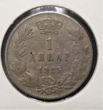 Iugoslavia 1 Dinar - Aleksandar I  1925