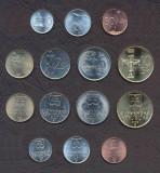 SLOVACIA █ SET COMPLET DE MONEDE 10+20+50 Haler +1+2+5+10 Korun 1996-2007 UNC, Europa