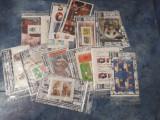 PLICURI  FILATELICE  50 timbre (25 straine 25 românești) 1colita bonus