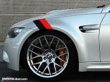 Sticker ornament auto BMW FLAG - BLACK/RED (20cm x 12cm) ManiaStiker, AutoLux