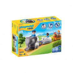 Playmobil 1.2.3 - Tren cu animalute